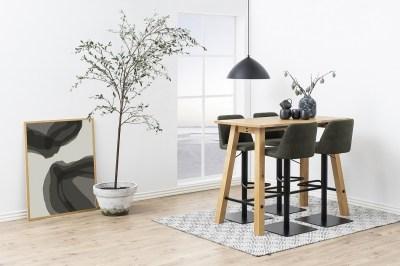 Dizajnová barová stolička Alasdair, olivovo zelená