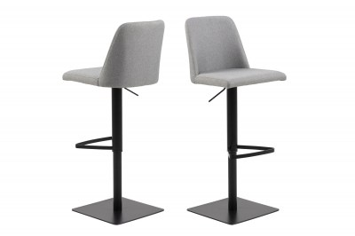 Designová barová židle Alasdair světlešedá