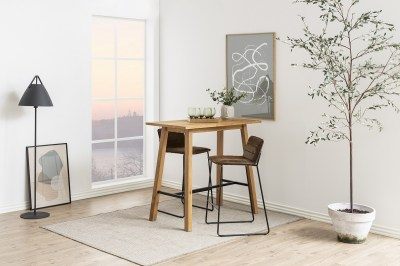 Designová barová židle Alberich hnědá