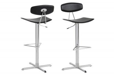 Designová barová židle Alessio černá