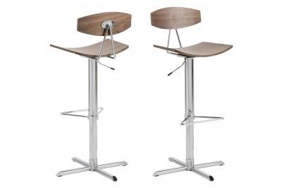 Designová barová židle Alessio ořech