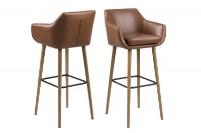 Designová barová židle Almond koňaková