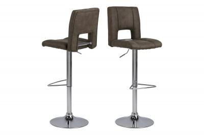 Designová barová židle Almonzo světlehnědá / chromová
