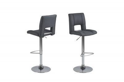 Designová barová židle Almonzo tmavě šedá / chromová