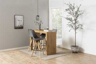 Designová barová židle Nascha šedá-přírodní