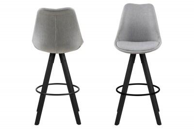Designová barová židle Nascha světle šedá-černá