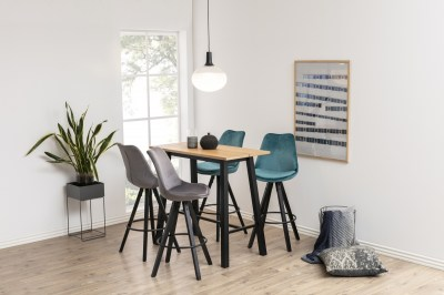 Designová barová židle Nascha tmavě šedá-černá