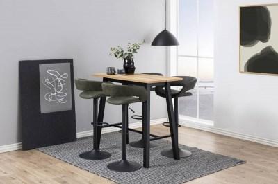 Designová barová židle Natania olivově zelená a černá