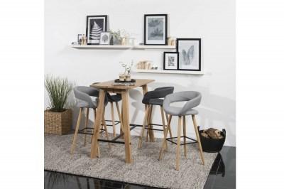Designová barová židle Natania světle šedá
