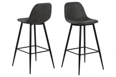 Designová barová židle Nayeli antracitová a černá