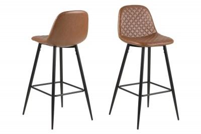Designová barová židle Nayeli brandy a černá