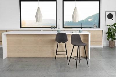 Designová barová židle Nayeli šedá a černá 91 cm