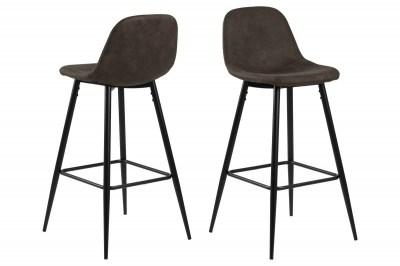 Designová barová židle Nayeli světle hnědá a černá