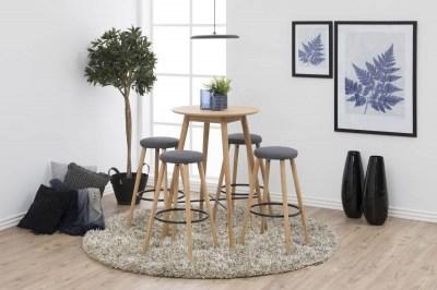 Designová barová židle Neptune šedá-přírodní