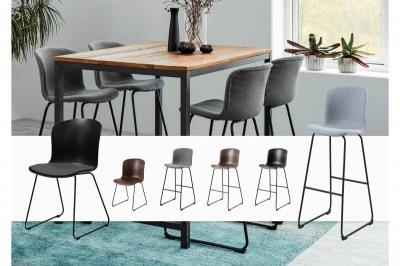 Designová barová židle Nerilla světle šedá