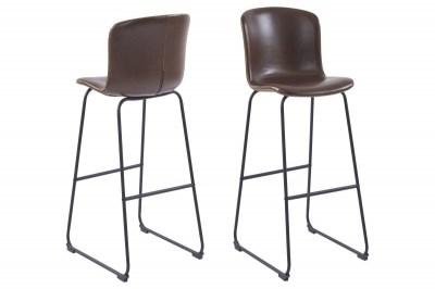 Designová barová židle Nerilla tmavě hnědá