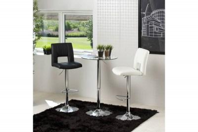 Designová barová židle Nerine černá a chromová-ekokůže