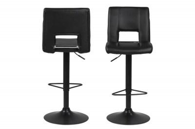 Designová barová židle Nerine černá-ekokůže