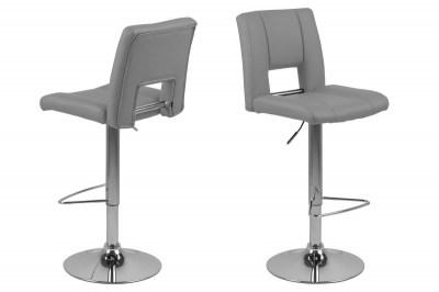 Designová barová židle Nerine šedá a chromová