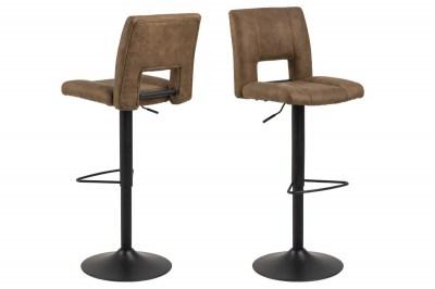 Designová barová židle Nerine světle hnědá a černá