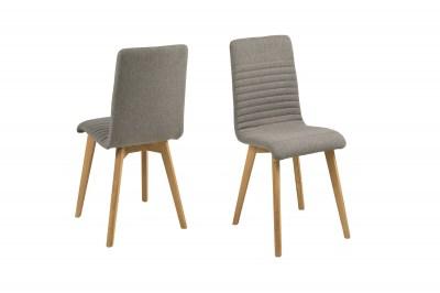 Designová jídelní židle Alano světlešedá