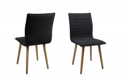 Designová jídelní židle Alberic tmavě šedá