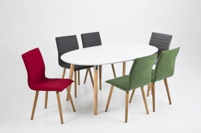 Dizajnová jedálenská stolička Alberic, tmavosivá