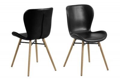 Designová jídelní židle Alejo II černá
