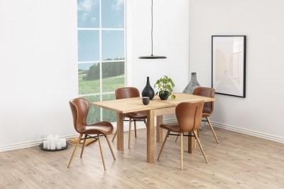 Dizajnová jedálenská stolička Alejo, koňaková