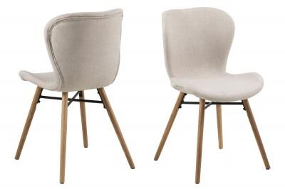 Designová jídelní židle Alejo písková