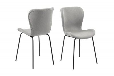 Designová jídelní židle Alejo světlešedá