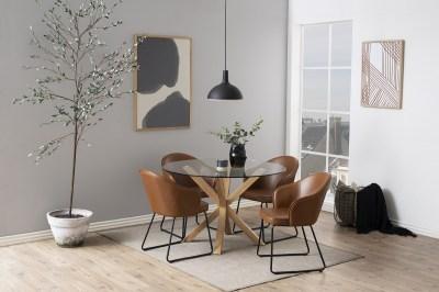 Designová jídelní židle Alfie koňaková