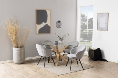 Designová jídelní židle Alfie šedá