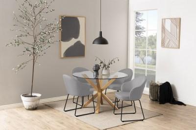 Designová jídelní židle Alfie světlešedá