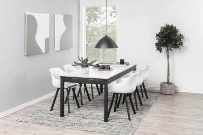 Designová jídelní židle Alphonse bílá / černá