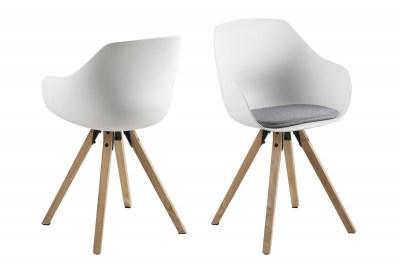 Designová jídelní židle Alphonse bílá / přírodní