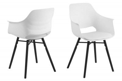 Designová jídelna židle Narda bílá a černá