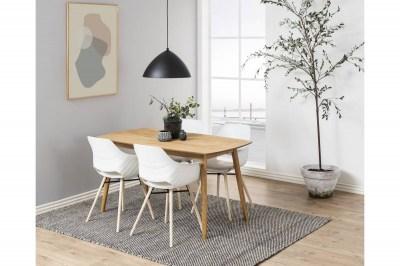 Designová jídelna židle Narda bílá a přírodní
