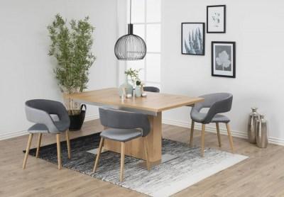 Designová jídelna židle Natania šedá