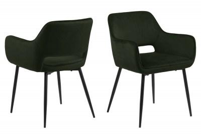 Designová jídelna židle Nereida olivově zelená