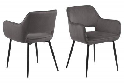 Designová jídelna židle Nereida tmavě šedá