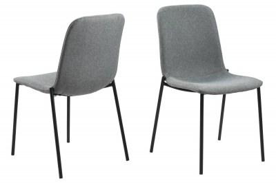 Designová jídelní židle Nerissa světle šedá