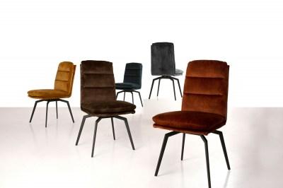 Designová jídelní židle Roll šedo-černá