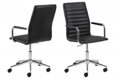 Designová kancelářská židle Narina černá-chromová