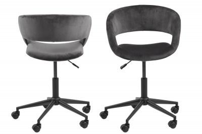 Designová kancelářská židle Natania tmavě šedá