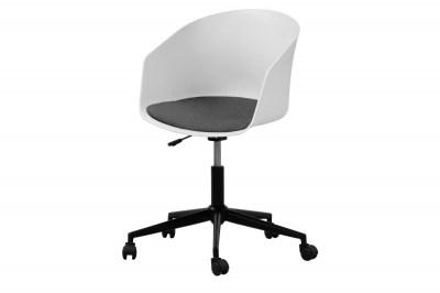 Designová kancelářská židle Natividad bílá-šedá