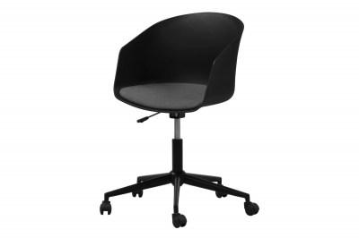 Designová kancelářská židle Natividad černá-šedá