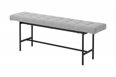 Designová lavice Nerida světle šedá 160 cm