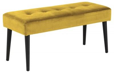 Designová lavička Neola žlutá