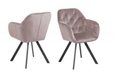 Designová otočná židle Aletris růžová